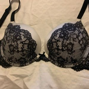 Victoria's Secret Push Up Bra- Cream and Black
